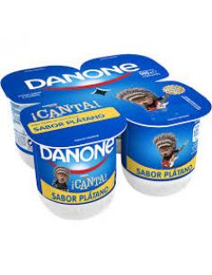 Danone sabor plátano (pack 4) - Imagen 1