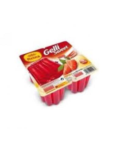 Gelatina Reina Gelli Sweet Fresa (pack 4) - Imagen 1