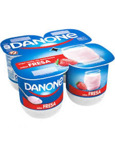 Danone sabor fresa (pack 4) - Imagen 1