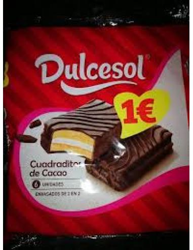 Dulcesol cuadraditos de cacao (pack 6) - Imagen 1