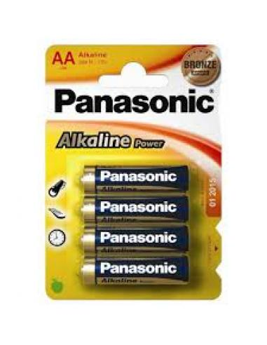 Panasonic AA Alkaline  LR 6 (Pack 4) - Imagen 1