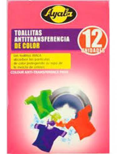 Toallitas ayala ropa color (12 unidades) - Imagen 1