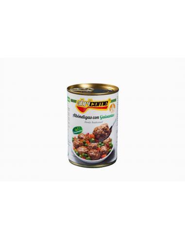 Albóndigas con guisantes Abricome (520 g) - Imagen 1