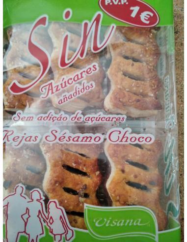 Sin azúcar rejas sésamo choco ( pack 6 ) - Imagen 1