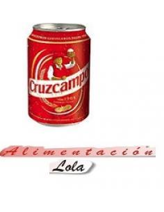 Cerveza lata con alcohol cruzcampo  (330ml) - Imagen 1