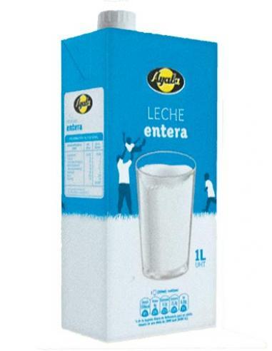 Leche ayala entera (1 litro) - Imagen 1