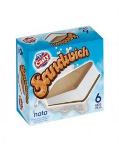 Helado sandwich nata casty (pack 6 ) - Imagen 1