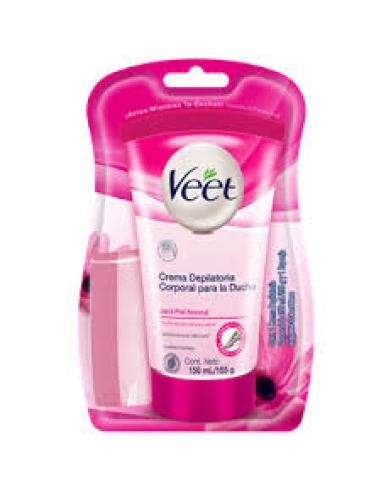 Crema depilatoria de ducha veet piel norm (150 ml) - Imagen 1
