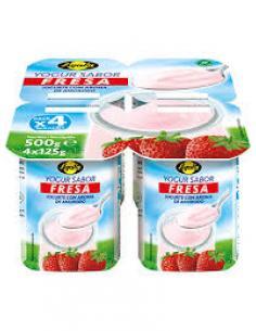Yogur Ayala sabor fresa 0% 0% (pack 4) - Imagen 1