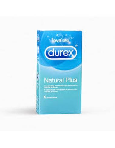 Durex natural plus (6 unidades) - Imagen 1