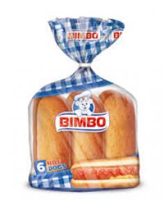 Pan Bimbo 6 Hot dogs (330 g) - Imagen 1