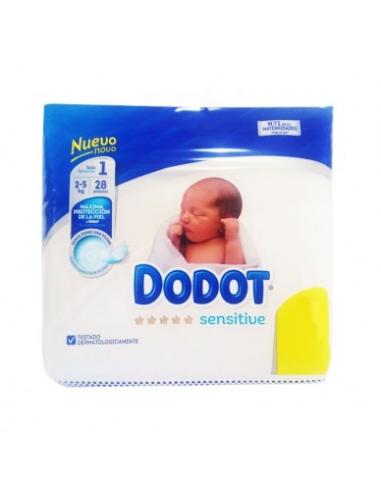 Pañal dodot sensitive talla 1 (28 unidades) - Imagen 1