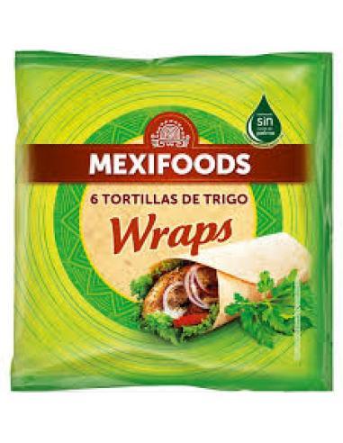 Mexifoods 6 tortillas trigo (370) - Imagen 1