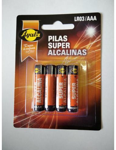 Pilas super alcalinas ayala LR03/AAA (pack 4) - Imagen 1