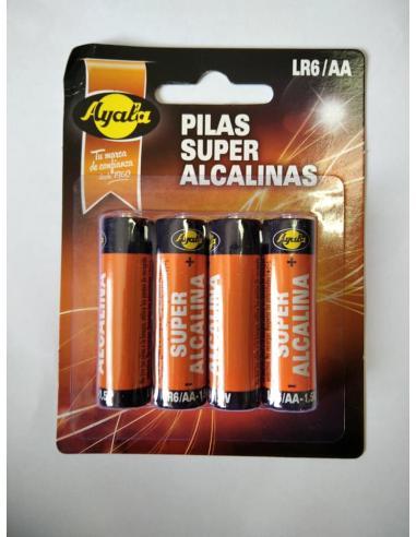 Pilas super alcalinas ayala LR6/AA (pack 4) - Imagen 1
