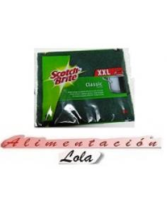 Estropajo scotch brite fibra verde gigante (1 u) - Imagen 1