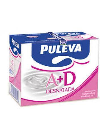 Leche puleva desnatada a+d (pack 6 1 litro) - Imagen 1