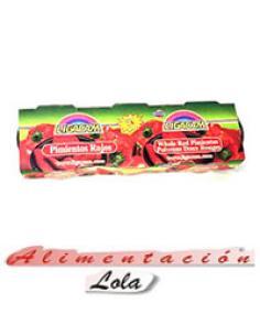 Morrones ligacam al natural pack 3 x (80 g) - Imagen 1