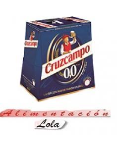 Cerveza cruzcampo 00 alcohol (pack 6 x 25cl) - Imagen 1