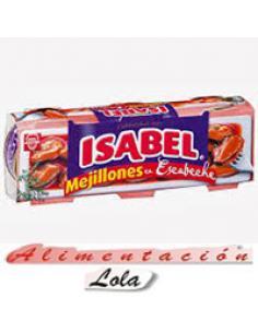 Mejillones Isabel en Escabeche pack 3 lata (85g) - Imagen 1