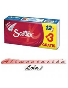 Pañuelos scottex blancos (12 + 3 gratis) - Imagen 1