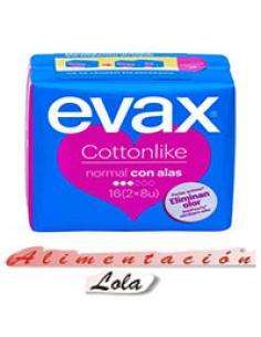 Compresas evax cottonlike normal (16 u) - Imagen 1