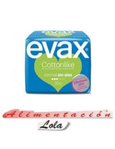 Compresas evax normal sin alas (20 u) - Imagen 1
