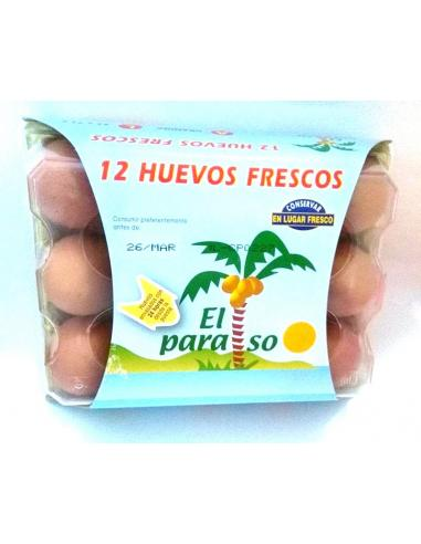 Huevos el paraiso talla m (12 huevos) - Imagen 1