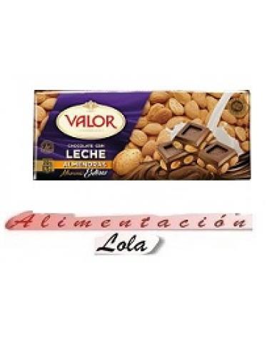 Chocolate valor con leche y almendras (250 g) - Imagen 1