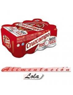 Cerveza cruzcampo lata con alcohol 33 cl (pack 24) - Imagen 1
