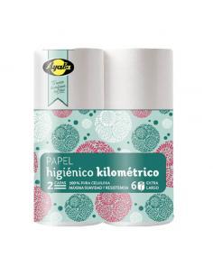 Papel higiénico ayala kilométrico blanco (pack 6) - Imagen 1