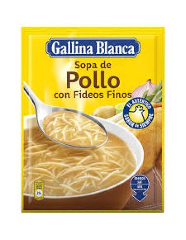 Sopa pollo fideos finos ga blanca baja en sal ( - Imagen 1