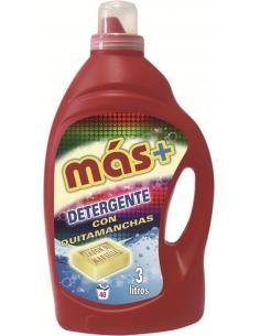 Más detergente con quitamanchas ropa color (3l) - Imagen 1