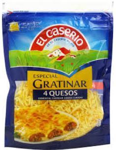 Queso gratinar 4 quesos El caserío (140 g) - Imagen 1