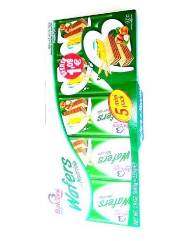 Galletas balconi wafers nocciola (250 g) - Imagen 1