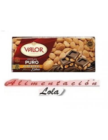 Chocolate Valor Puro Almendras (250 g) - Imagen 1