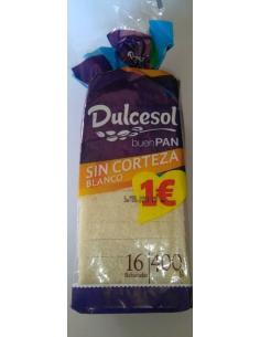 Pan sin corteza blanco Dulcesol (350 g) - Imagen 1