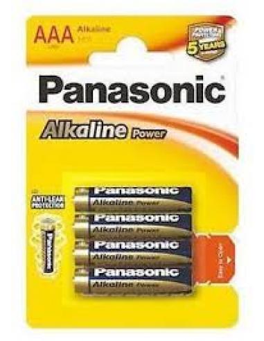 Pilas panasonic alkaline LR 3 (pack 4) - Imagen 1